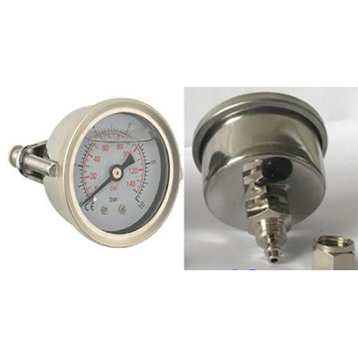 "Manometer glycerín 42 mm panel prip.hadička 1/4 ""0-150psi 0-10br"