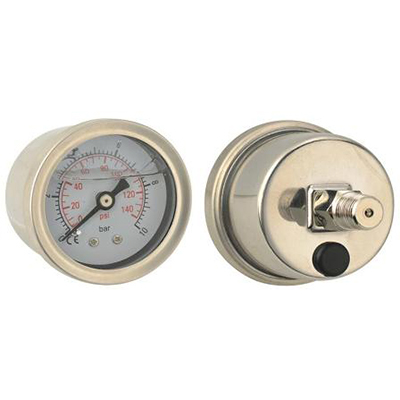 "Manometer glycerín 42 mm zadné PT1 / 8 ""0-150psi 0-10bar"