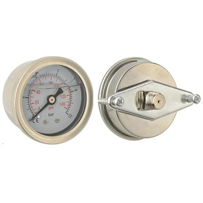 "Manometer glycerín 62 mm panel PT 1/4 ""0-100psi 0-7 bar"