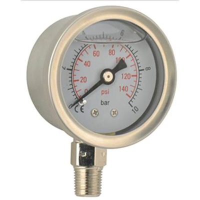 "Manometer glycerín 62 mm spodná PT 1/4 ""0-100psi 0-7 bar"