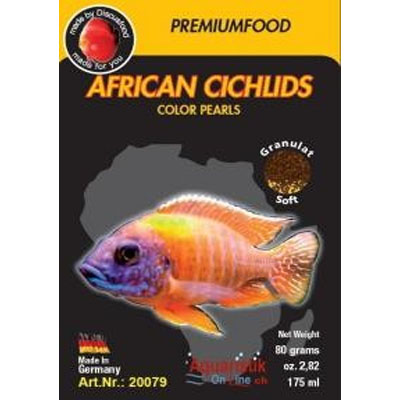 Discusfood african cichlid color pearls 80g
