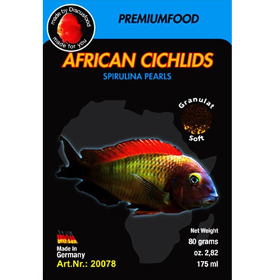 Discusfood african cichlid spirulina pearls 80g