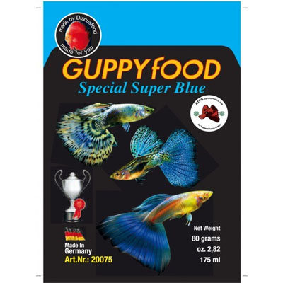 Discusfood Guppy special super BLUE 80g