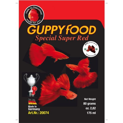 Discusfood Guppy special super RED 80g