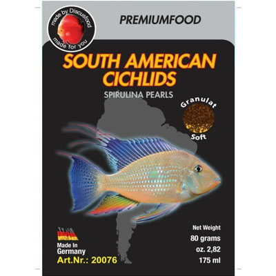 Discusfood South American cichlid spirulina pearls 80g