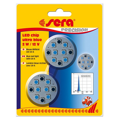 Sera LED chip ultra blue 2 W / 12 V