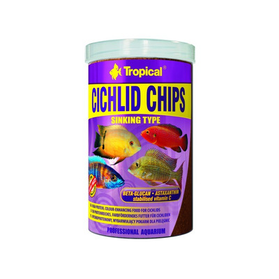 TROPICAL- Cichlid chips 1000ml/520g