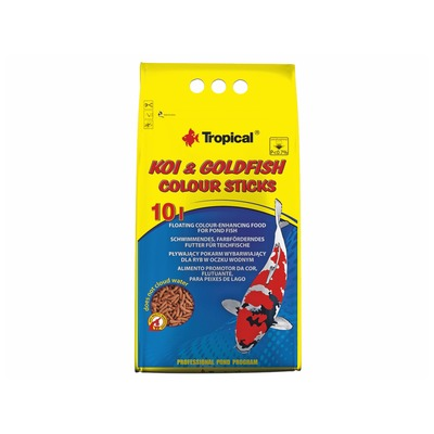 TROPICAL-POND Koi-goldfish Colour sticks 10L